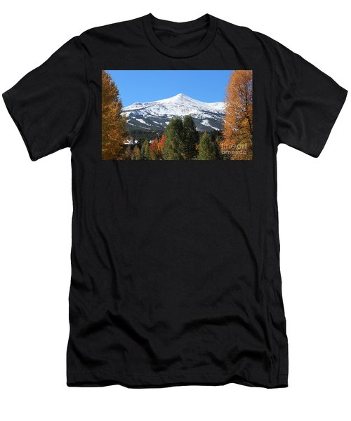 Breckenridge Colorado Men's T-Shirt (Slim Fit) by Fiona Kennard