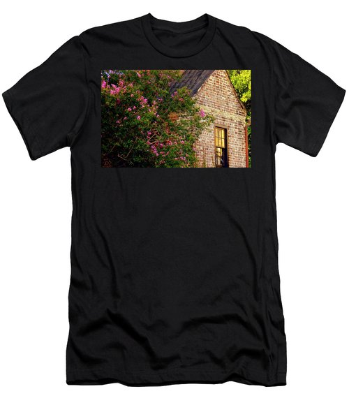 Men's T-Shirt (Slim Fit) featuring the photograph Brick And Myrtle by Rodney Lee Williams