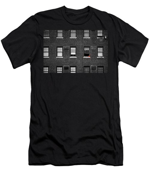 Brick Wall And Windows Men's T-Shirt (Athletic Fit)