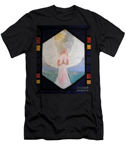 Angel In Prayer  Men's T-Shirt (Athletic Fit)
