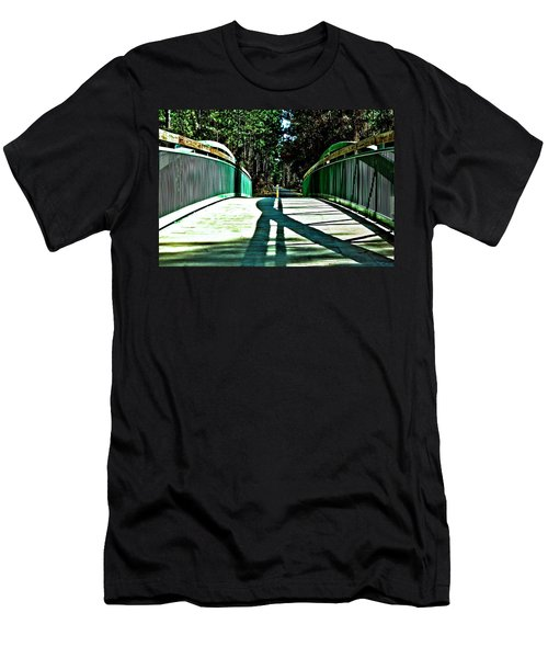 Men's T-Shirt (Athletic Fit) featuring the photograph Bridge Of Shadows by Tyson Kinnison