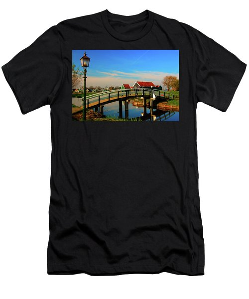 Bridge Over Calm Waters Men's T-Shirt (Slim Fit) by Jonah  Anderson