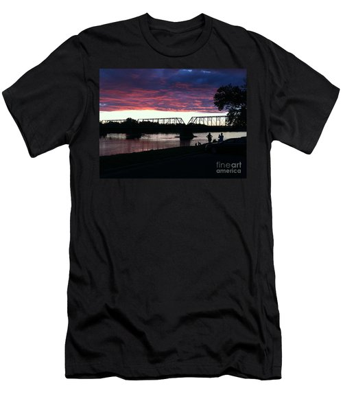 Bridge Sunset In June Men's T-Shirt (Athletic Fit)