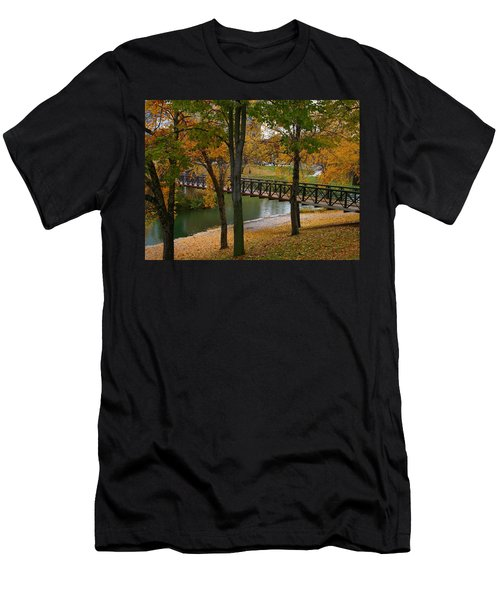 Men's T-Shirt (Slim Fit) featuring the photograph Bridge To Fall by Elizabeth Winter