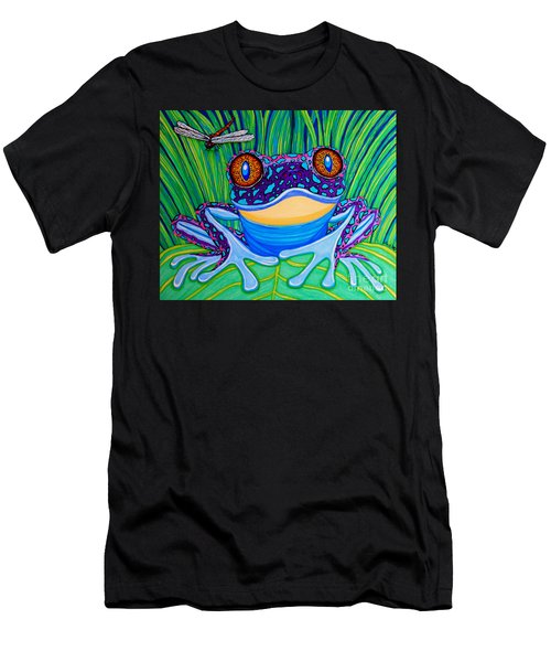 Bright Eyed Frog Men's T-Shirt (Athletic Fit)
