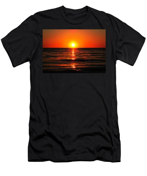 Bright Skies - Sunset Art By Sharon Cummings Men's T-Shirt (Athletic Fit)