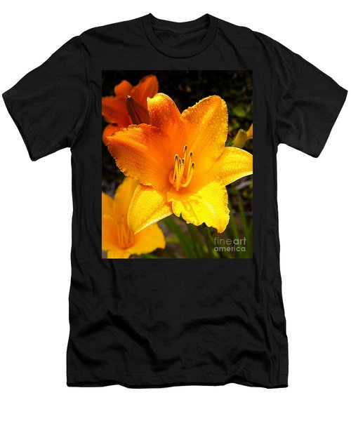 Bright Yellow Daylily Flower Men's T-Shirt (Athletic Fit)