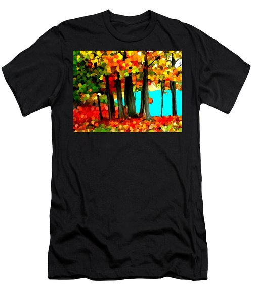 Brightness In The Forest Men's T-Shirt (Athletic Fit)