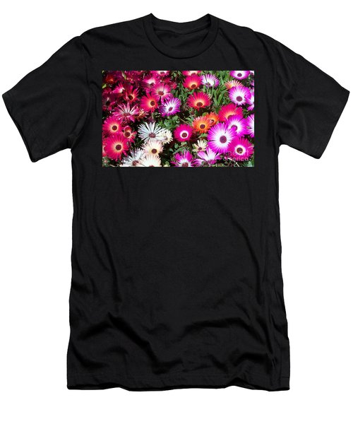 Men's T-Shirt (Slim Fit) featuring the photograph Brilliant Flowers by Chalet Roome-Rigdon