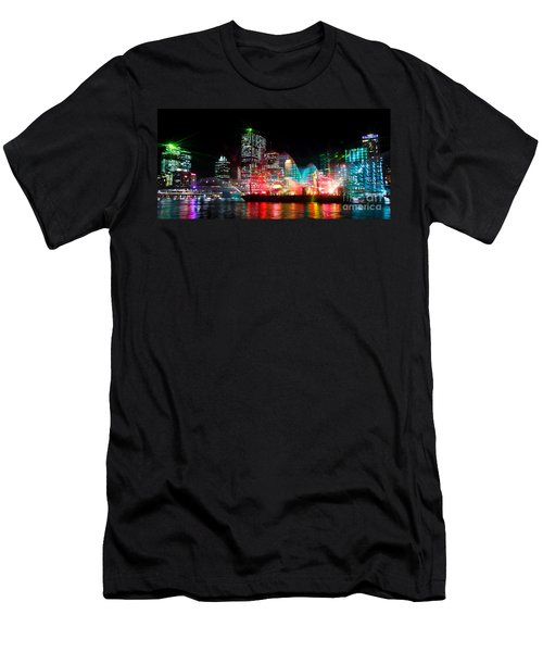 Brisbane City Of Lights Men's T-Shirt (Athletic Fit)