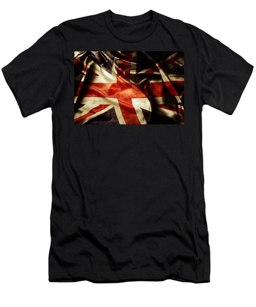 British Flag  Men's T-Shirt (Athletic Fit)