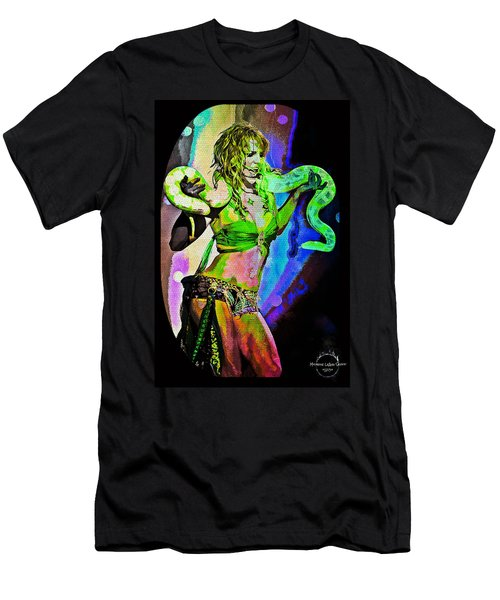 Britney Neon Dancer Men's T-Shirt (Slim Fit) by Absinthe Art By Michelle LeAnn Scott