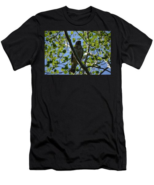 Men's T-Shirt (Slim Fit) featuring the photograph Broad-winged Hawk by James Petersen