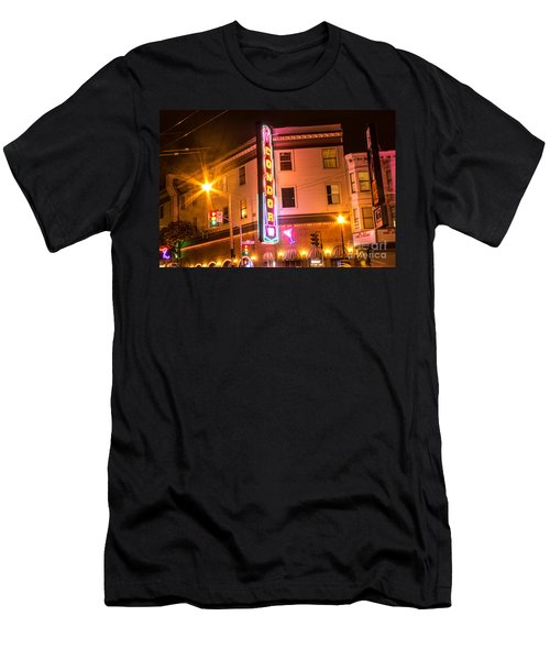 Men's T-Shirt (Slim Fit) featuring the photograph Broadway At Night by Suzanne Luft