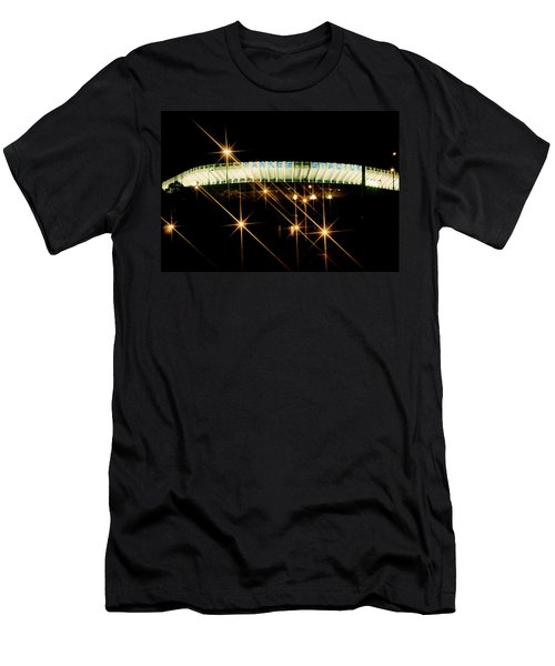 Bronx Night  Iv Yankee Stadium Men's T-Shirt (Slim Fit) by Iconic Images Art Gallery David Pucciarelli
