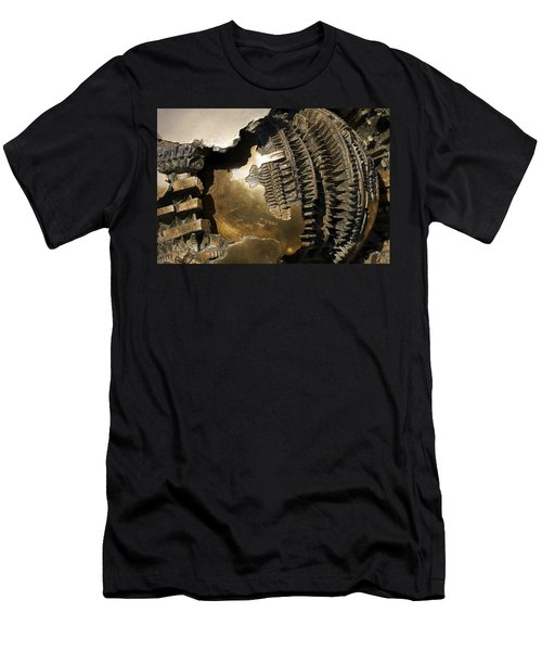 Bronze Abstract Men's T-Shirt (Athletic Fit)