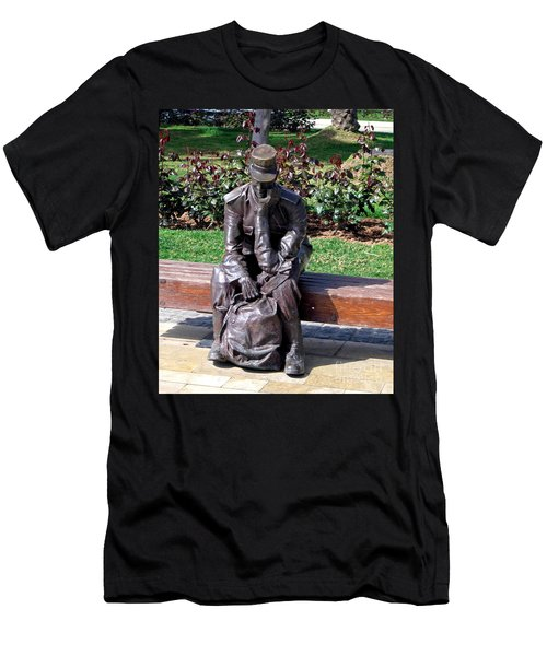Bronze Mailman Resting Men's T-Shirt (Slim Fit) by Jay Milo