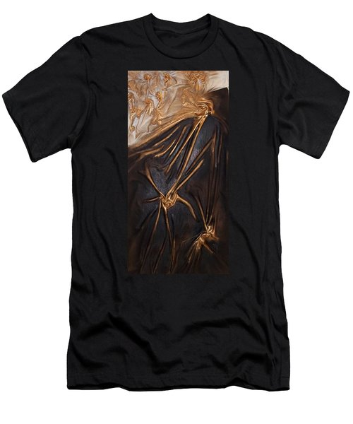 Brown And Gold Men's T-Shirt (Athletic Fit)