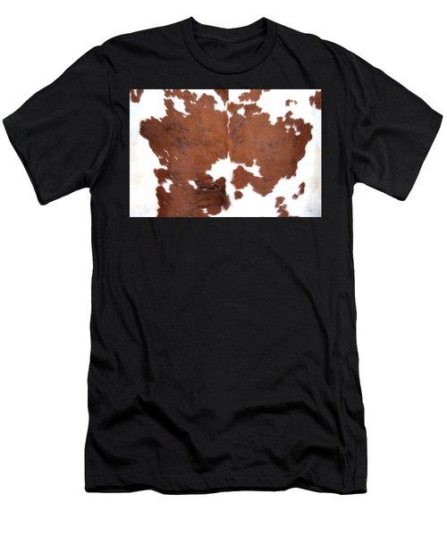 Brown Cowhide Men's T-Shirt (Athletic Fit)