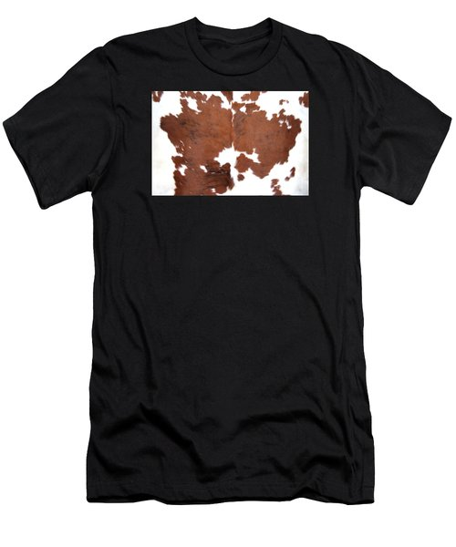 Brown Cowhide Men's T-Shirt (Athletic Fit)