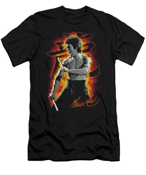 Bruce Lee - Dragon Fire Men's T-Shirt (Athletic Fit)