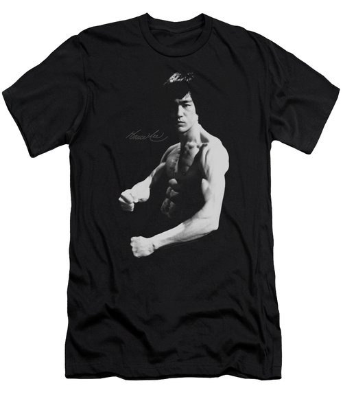Bruce Lee - Stance Men's T-Shirt (Athletic Fit)