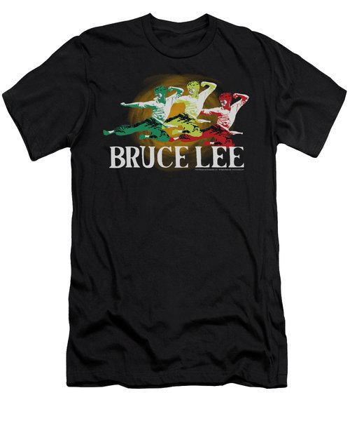 Bruce Lee - Tri Color Men's T-Shirt (Athletic Fit)
