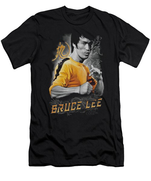 Bruce Lee - Yellow Dragon Men's T-Shirt (Slim Fit) by Brand A