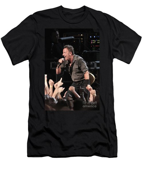 Musician Bruce Springsteen Men's T-Shirt (Athletic Fit)