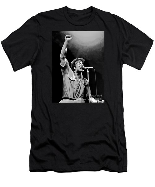 Bruce Springsteen Men's T-Shirt (Slim Fit) by Meijering Manupix
