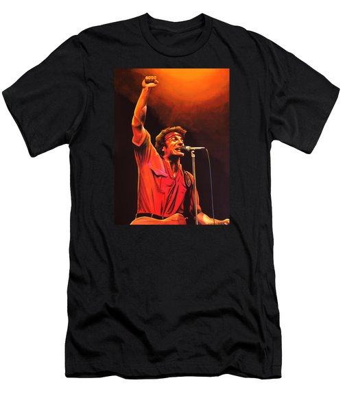 Bruce Springsteen Painting Men's T-Shirt (Slim Fit) by Paul Meijering