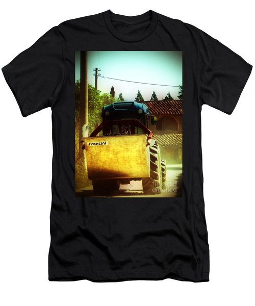 Men's T-Shirt (Slim Fit) featuring the photograph Brunello Taxi by Angela DeFrias