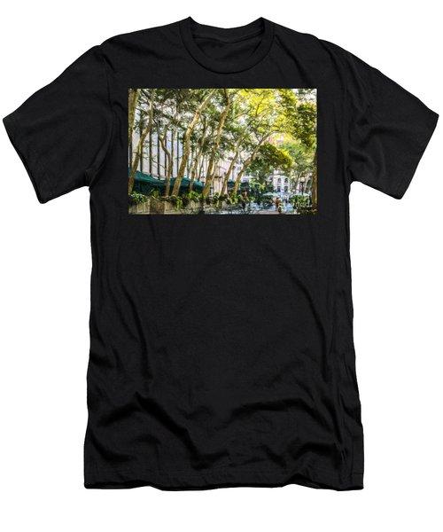 Bryant Park Midtown New York Usa Men's T-Shirt (Athletic Fit)