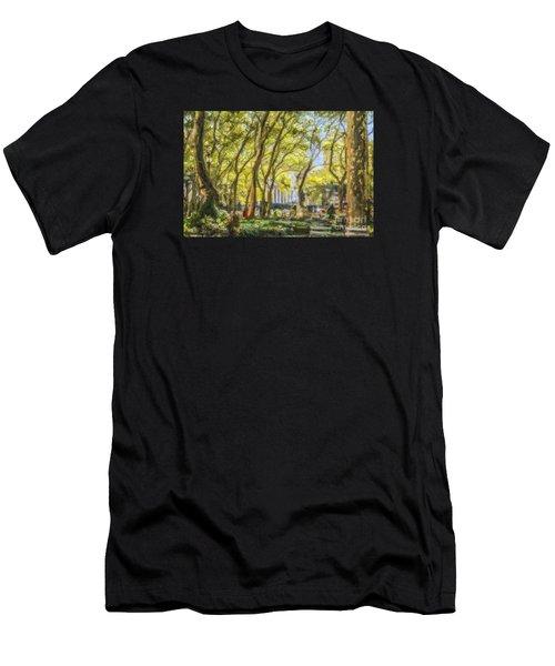 Bryant Park October Morning Men's T-Shirt (Athletic Fit)