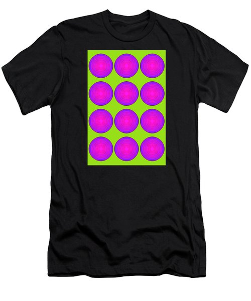 Bubbles Lime Purple Poster Men's T-Shirt (Athletic Fit)