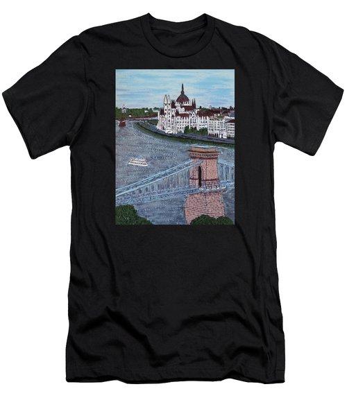 Budapest Bridge Men's T-Shirt (Athletic Fit)