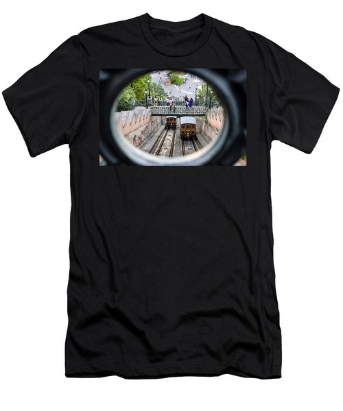 Budapest Castle Hill Funicular Men's T-Shirt (Athletic Fit)