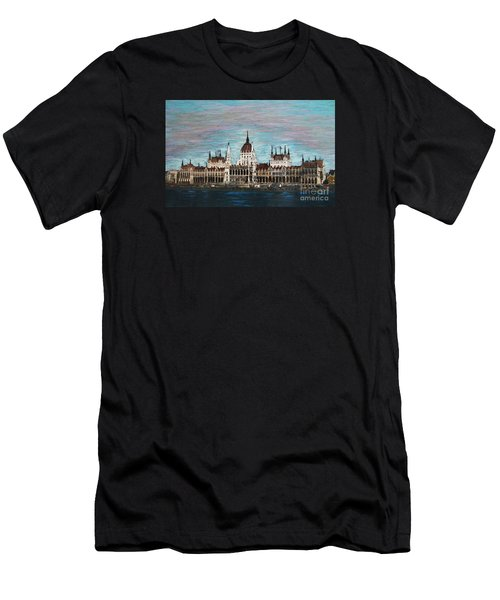 Budapest Parliament By Jasna Gopic Men's T-Shirt (Athletic Fit)