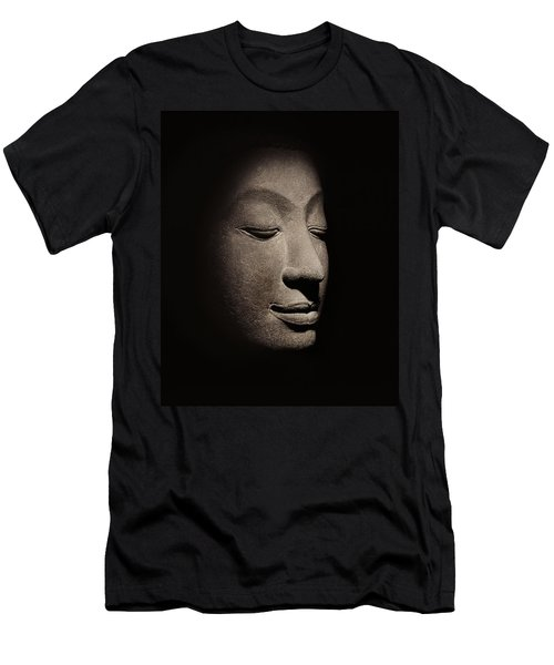 Buddha Head From The Early Ayutthaya Period Men's T-Shirt (Athletic Fit)