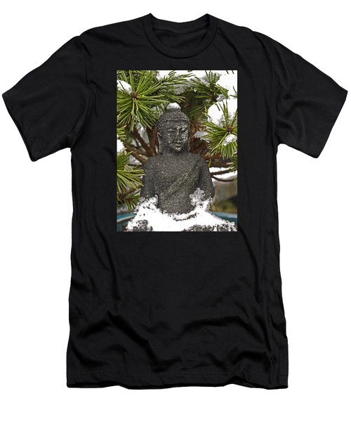Buddha In The Snow Men's T-Shirt (Athletic Fit)