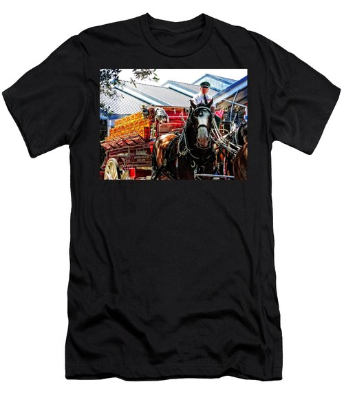 Budweiser Beer Wagon Men's T-Shirt (Slim Fit) by Mike Martin