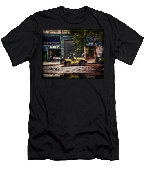 Buenos Aires Jeep Under The Rain Men's T-Shirt (Athletic Fit)