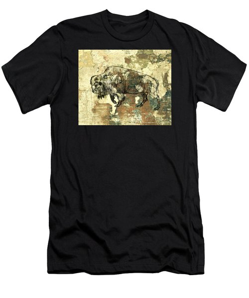 Men's T-Shirt (Slim Fit) featuring the photograph Buffalo 7 by Larry Campbell