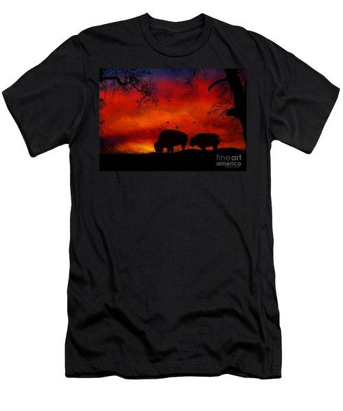 Buffalo Sunset Men's T-Shirt (Athletic Fit)