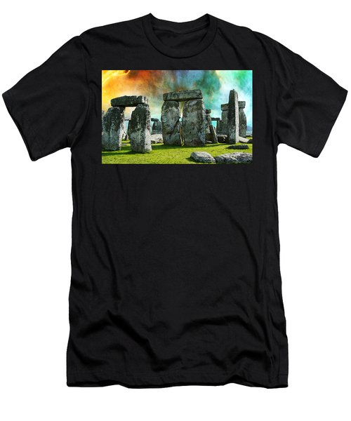Building A Mystery - Stonehenge Art By Sharon Cummings Men's T-Shirt (Athletic Fit)
