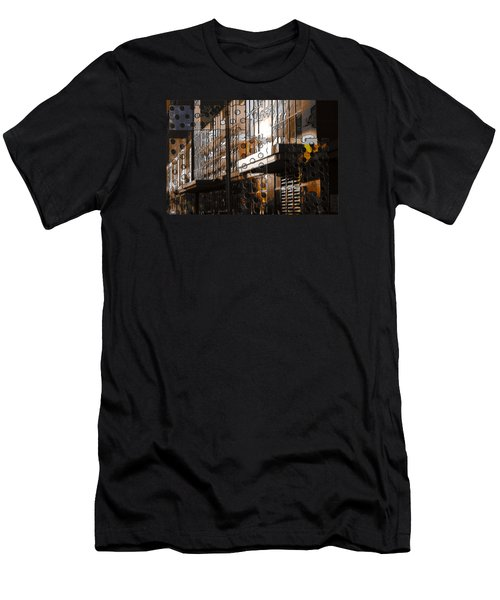 Building With Shimmering Circles Men's T-Shirt (Slim Fit) by Don Gradner
