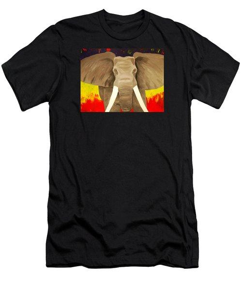 Bull Elephant Prime Colors Men's T-Shirt (Athletic Fit)