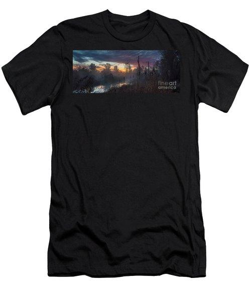 Bulrush Sunrise Full Scene Men's T-Shirt (Athletic Fit)