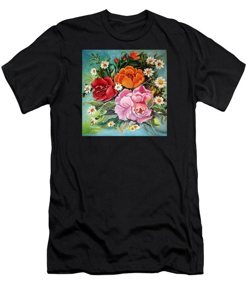 Bunch Of Flowers Men's T-Shirt (Athletic Fit)