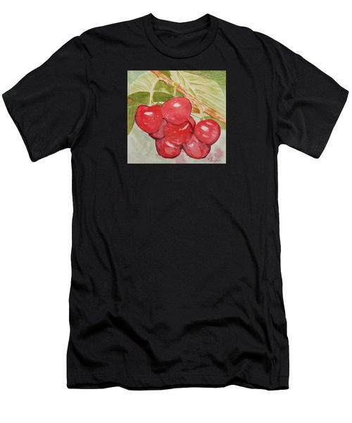 Bunch Of Red Cherries Men's T-Shirt (Athletic Fit)